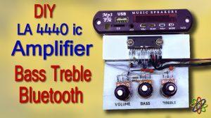 DIY LA4440 bass amplifier homemade