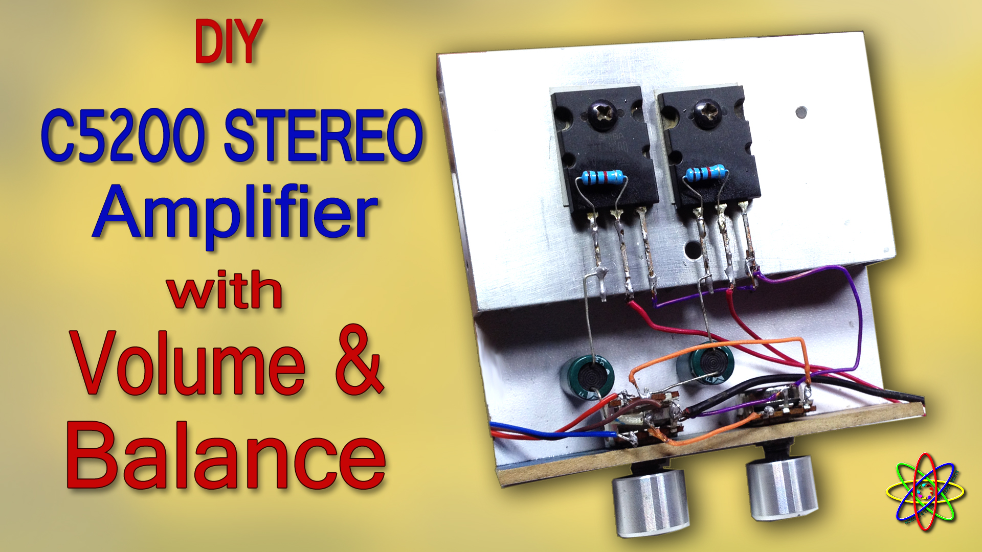 DIY C5200 stereo amplifier with volume balance