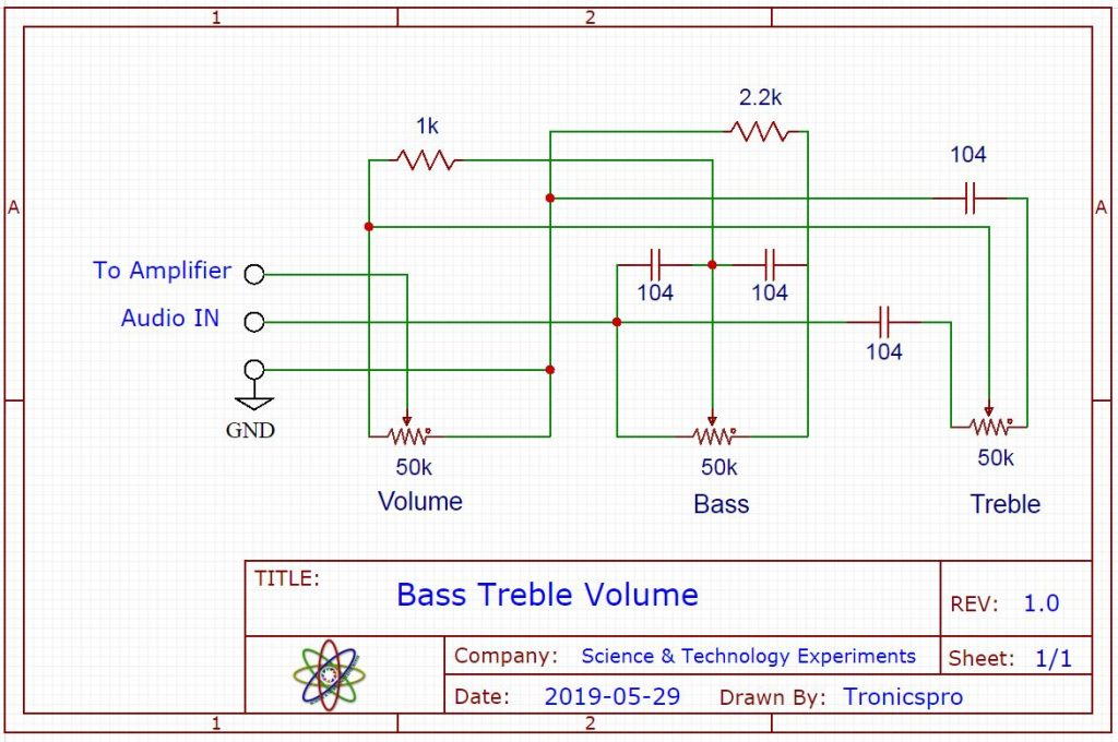 DIY Bass Treble Volume Circuit Diagram
