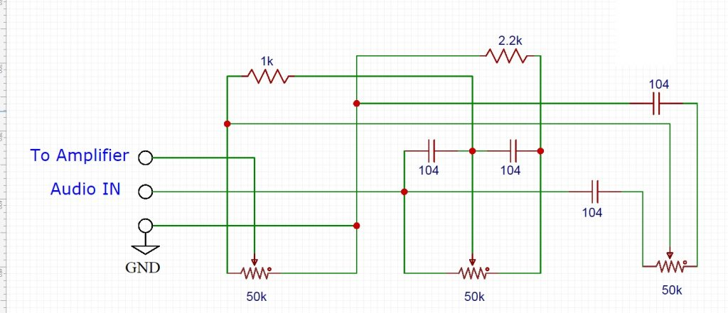 DIY C5200 A1943 Amplifier Circuit for bass treble