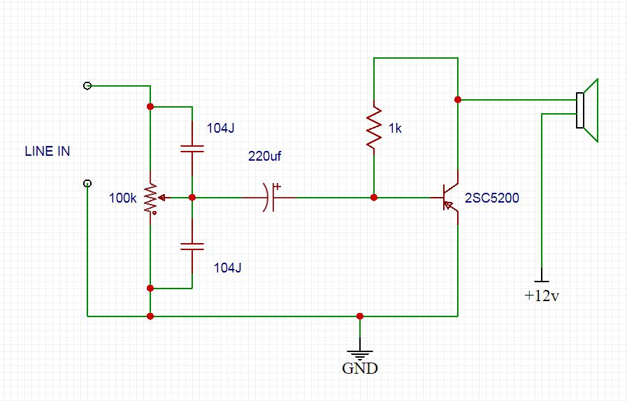 C5200 Bass Amplifier DIY circuit diagram