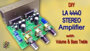 LA4440 bass amplifier DIY stereo homemade