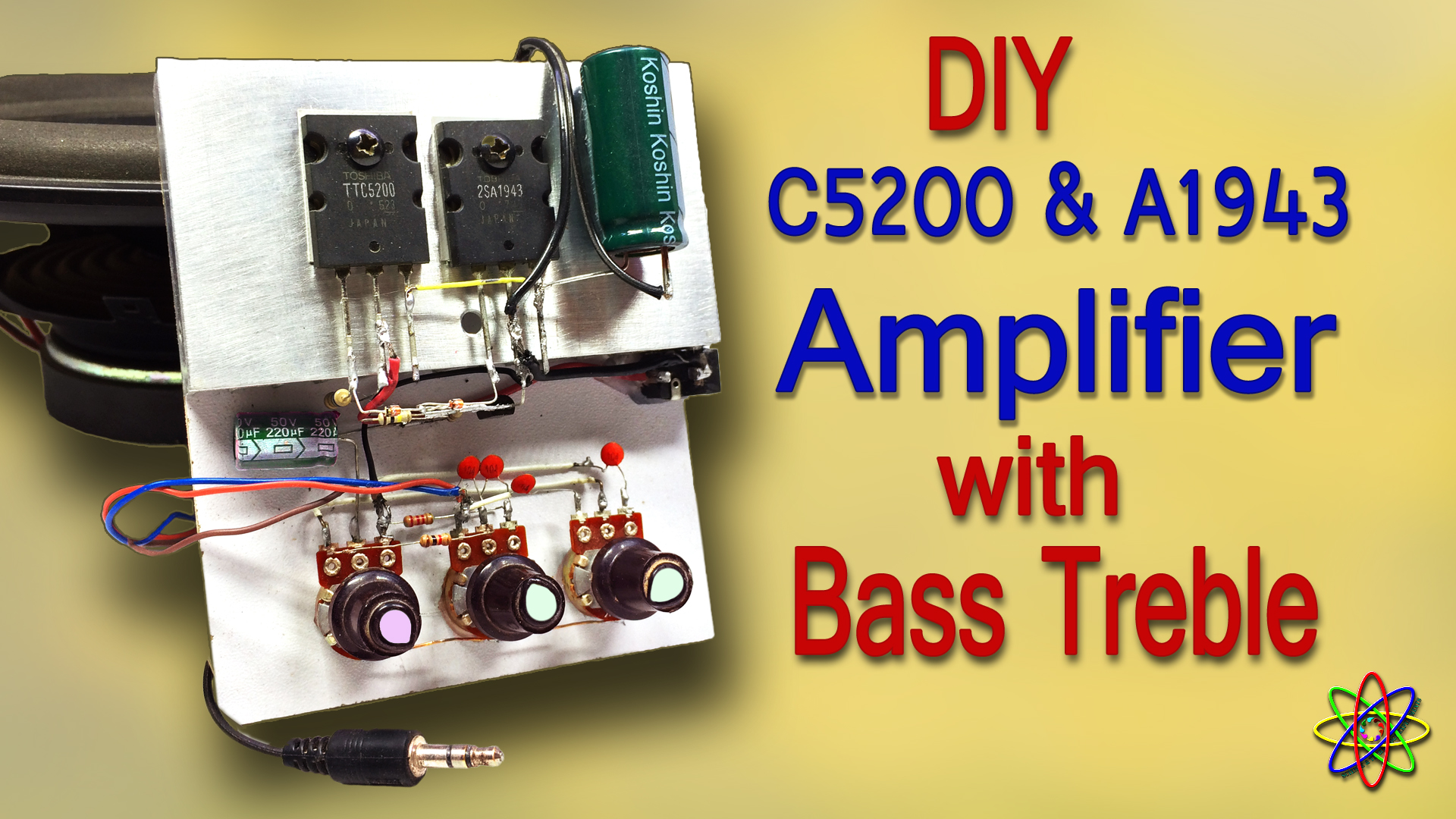 DIY C5200 A1943 amplifier homemade