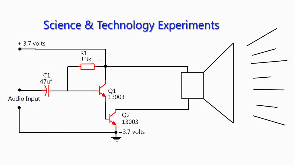 13003 Amplifier DIY Homemade Circuit Diagram