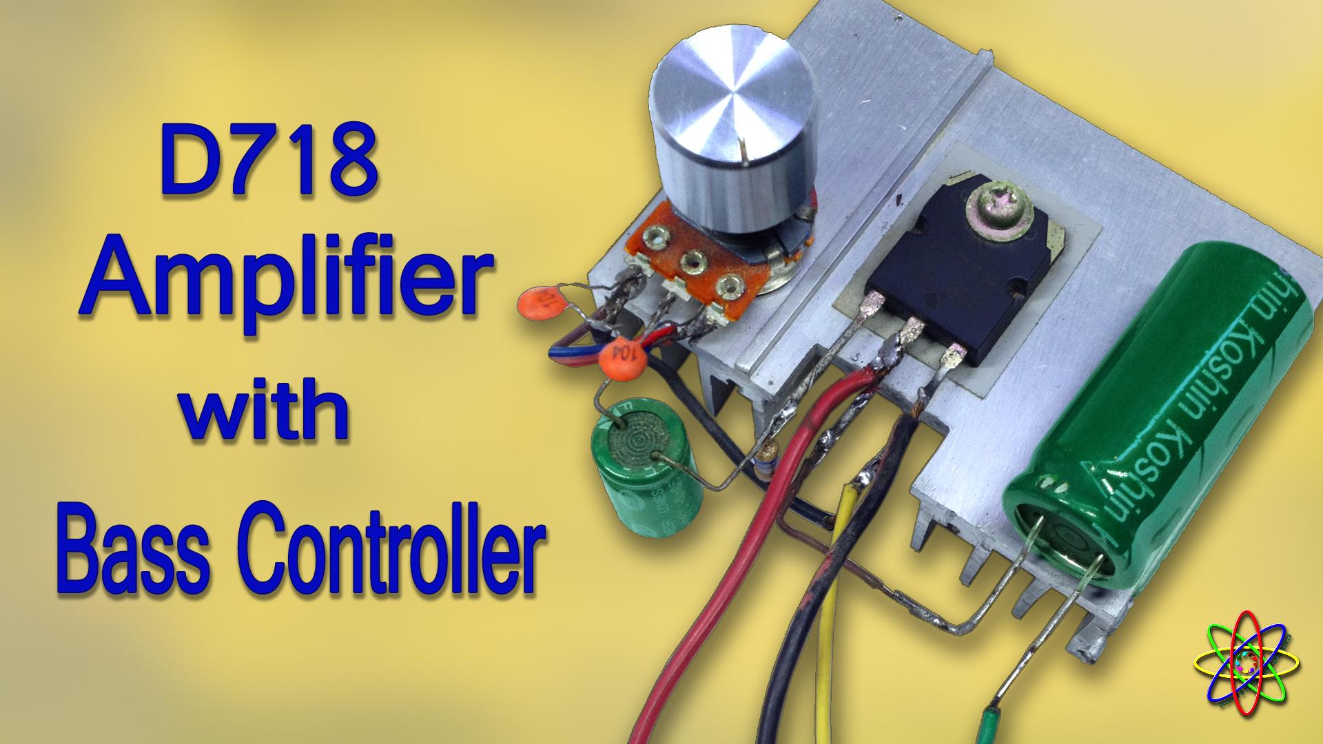 D718 amplifier heavy bass controller