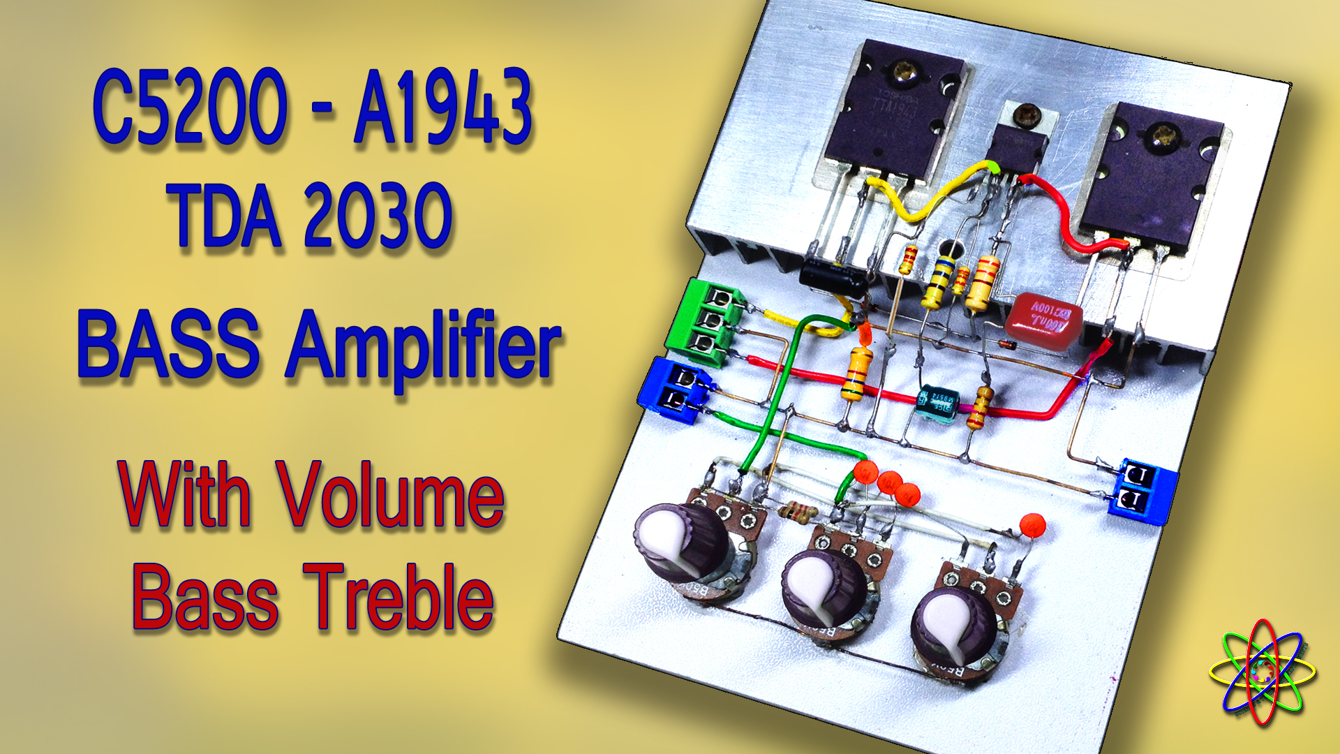 C5200 A1943 TDA2030 Amplifier DIY Homemade