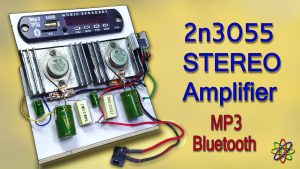 2N3055 stereo amplifier homemade bluetooth diy