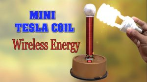 Mini Tesla Coil DIY Homemade Wireless Energy