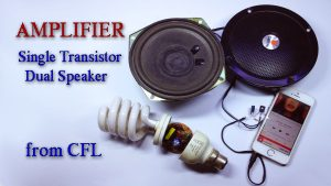 13003 CFL transistor amplifier homemade