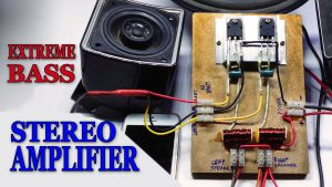 DIY D718 stereo amplifier homemade