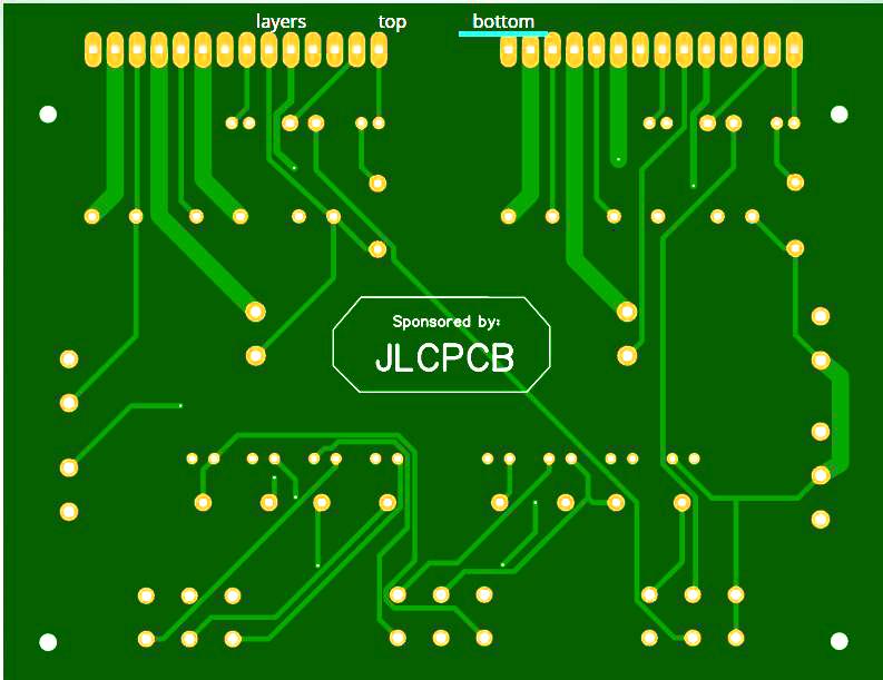 LA4440 Bass Amplifier DIY pcb back