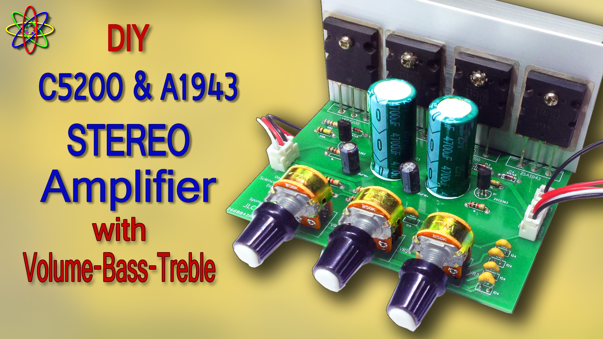 C5200 A1943 Stereo Amplifier DIY