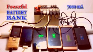 Battery Bank Mobile Charger 7000 mAh DIY Homemade