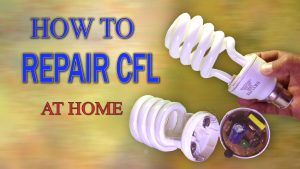 CFL bulb repair at home - tube replacement