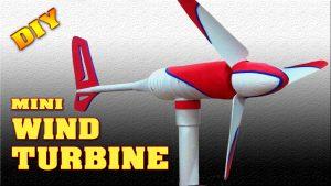 Mini Wind Turbine DIY Homemade - Science Power Project
