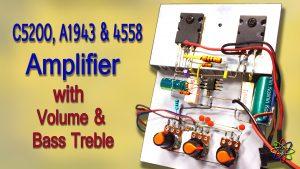 C5200 A1943 JRC4558 amplifier powerful DIY homemade
