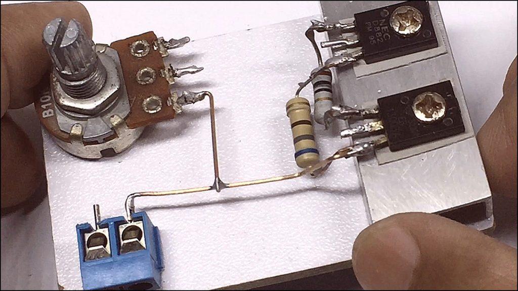 13003 transistor amplifier DIY 01